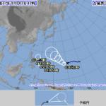 台風シーズン到来なのか?!(T_T)来週は要注意です・・・